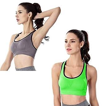 NHDCKHN Sous-vêtements de Sport 2 PCS Sports Top Women Hollow out ...