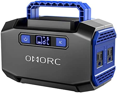 OMORC Mpow Portable Power Station 167Wh 45000mAh Portable Power Supply Portable Camping Generator Battery Backup with 2 AC Outlets 250W Peak ,2 USB 3 DC Ports Solar Generators for Emergence CPAP