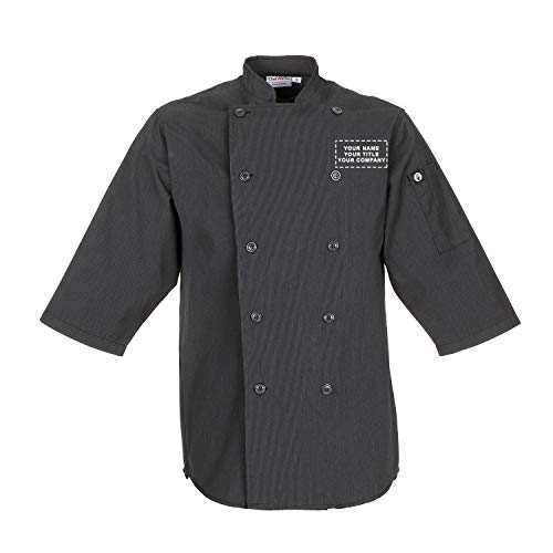 Chef Works Personalized Mens Brighton Chef Coat Dark Grey from Chef Works