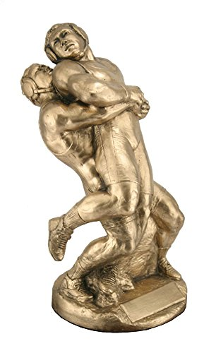 Munich Supple Wrestling Trophy Award Sculpture by Don-Len Trophies