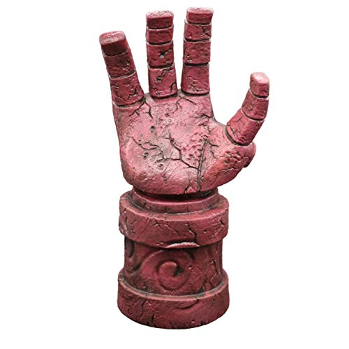 Latex Gauntlets - Lucky Lian Men's Hellboy Gloves Halloween Costume Latex Replica Gauntlet Cosplay