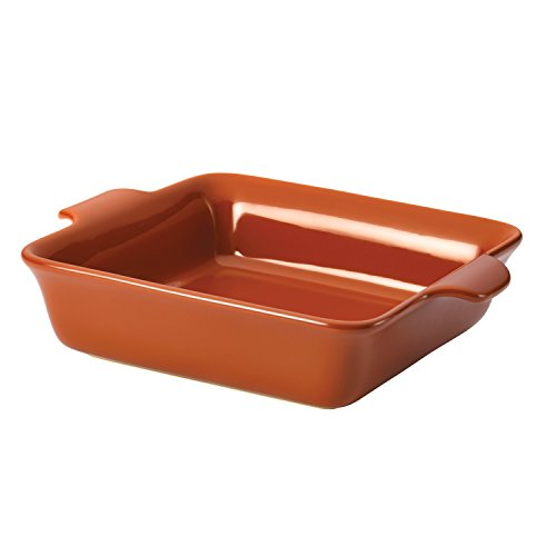 Anolon Vesta Ceramics 9-Inch Square Baker, Persimmon Orange