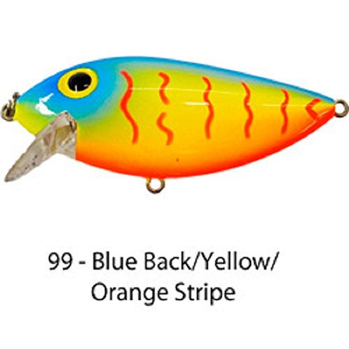 Brad's Thin Fish (Blue Back/Yellow/Orange Squiggle) (Fish Thin)