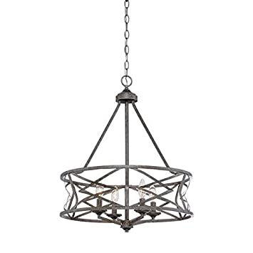 Millennium 2174-AS Four Light Chandelier, Pwt, Nckl, B S, Slvr.