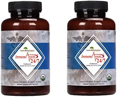 Aloha Medicinals – Immune Assist 24/7 - Daily Immune Support – Cordyceps militaris - Cordyceps sinensis - Mushroom Supplement – Antiviral Properties – Certified Organic – 960mg – 90 Tablets (2 pack)