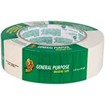 Duck Brand 394697 General Purpose Masking Tape, 1.41-Inch by 60-Yard, Single Roll, Beige