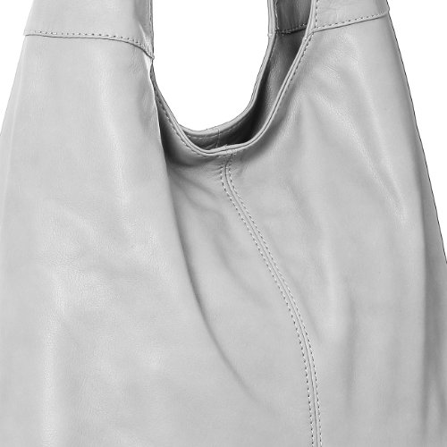 Soft Nappa CASPAR from Handbag made Shoulder grey Womens colours Shopper Leather TL610 Light many Bag Tote zzgw8qrf