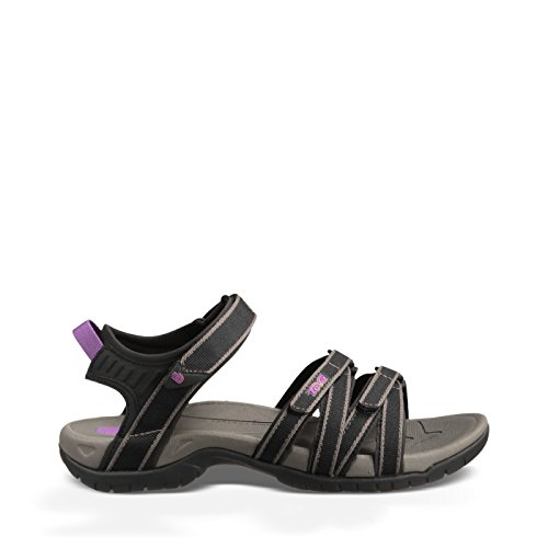 Water Teva Shoes (Teva Women's Tirra Sandal,Black/Grey,8 M US)