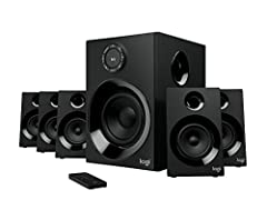 Logitech Z606 delivers true 5.1 surround sound. With 160 watts peak power on tap, This 5.1 speaker system wraps your space in high-quality audio that sounds amazing. Enjoy true surround sound from any source—your TV, phone, computer, games, a...
