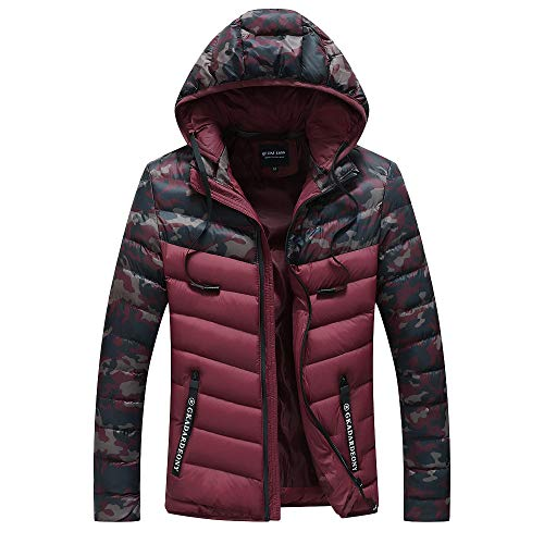 Badger Jerseys Solid Baseball (YOcheerful Men's Down Coat Down Jacket Warm Winter Outerwear Cotton Jacket Overcoat Anorak Puffer Coat)