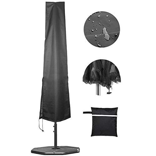 Jcy Outdoor Umbrella Cover ,Waterproof Protective Cover, for Garden Cantilever Parasol Patio Umbrellas(190x50x30cm) (Color : Black, Size : 183x25x35cm)