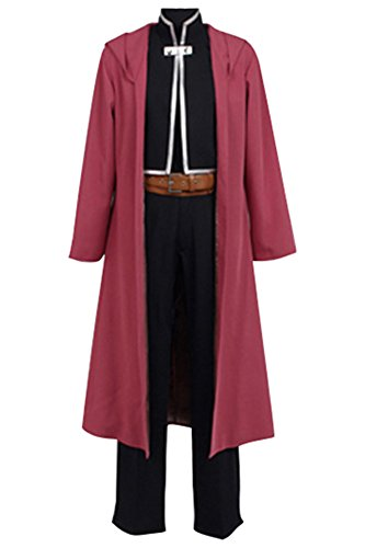 (NoveltyBoy Fullmetal Alchemist Halloween Costume Edward Elric Red Cape Cosplay Full Set)