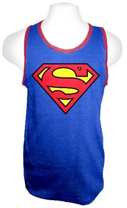 Superman+tank+tops Products : DC Comics Superman Logo Adult Blue T-shirt Tank Top