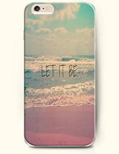 SevenArc Hard Phone Case for Apple iPhone 6 Plus ( iPhone 6 + )( 5.5 inches) - Let It Be - Sea And Beach - Life Quotes... by lolosakes