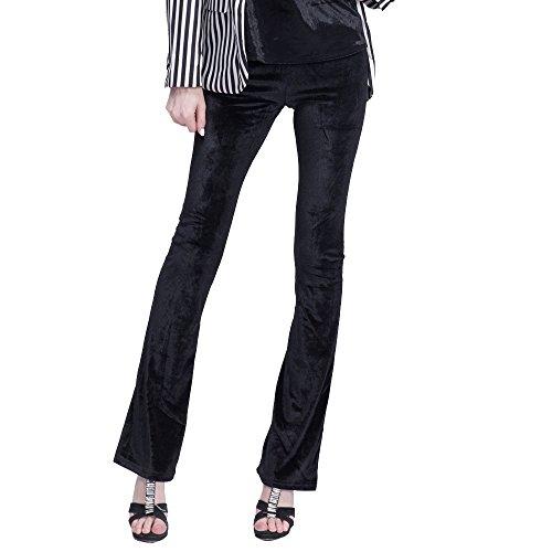 BELLA PHILOSOPHY Women Autumn Winter New Velvet Slim Flare Pants Trousers High Street