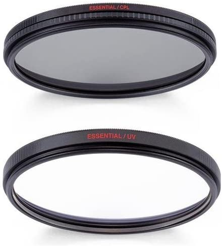 Manfrotto MFESSUV-67 67mm Essential UV Filter with 67mm Essential Circular Polarizing Filter