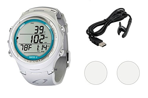 Oceanic GEO 2.0 Scuba Dive Computer Wrist Watch W/OCEANLOG Kit & Accessories ()