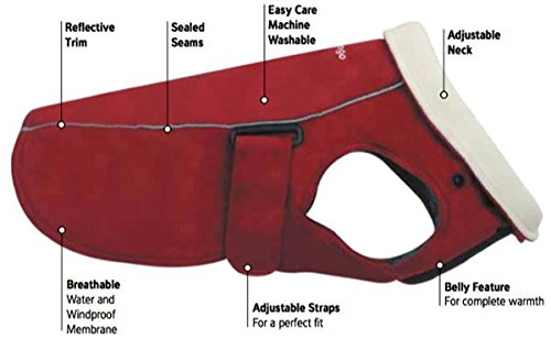 Red Dingo Warm Dog coat 10 in red