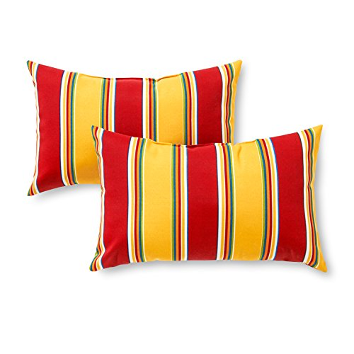 Greendale Rectangle Accent Pillows (Set of 2)look great with your balcony furniture ideas