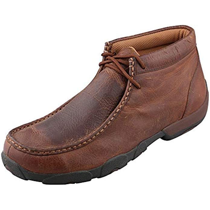 Twisted X Men's Chukka Driving Mocs - Handcrafted Full-Grain Leather Driving Mocs with CellStretch Comfort Technology