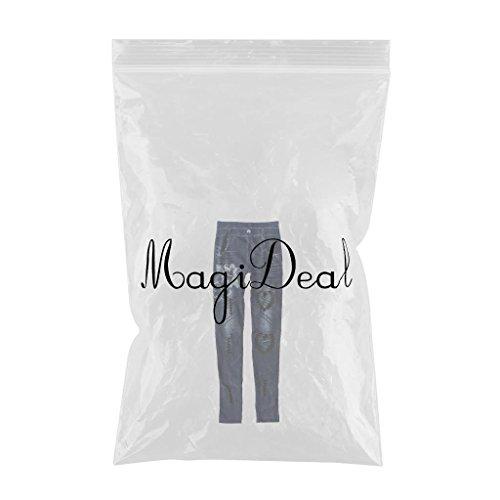 Gnrique S XL grande jean MagiDeal taille bleu jean haute taille slim femme fonc rArzq