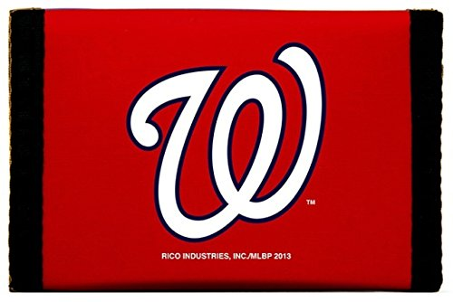 Rico MLB Washington Nationals Products MLB Nylon Wallet Washington Nationals, Black, -