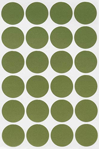 - Dot Sticker 1 inch Olive Paper Round Sticker - 360 Pack by Royal Green