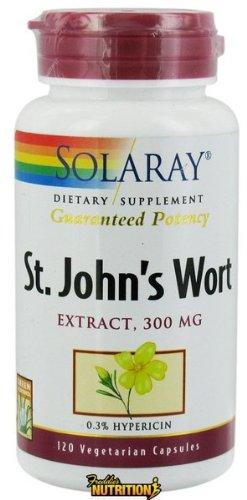 Solaray - Wort garanti Puissance Saint John Extrait 300 mg. - 120 Vegetarian Capsules