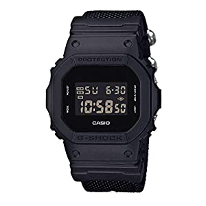 Casio Reloj Digital para Hombre de Cuarzo con Correa en Nailon DW-5600BBN-1ER