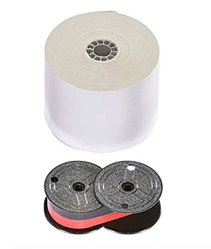(Top of The Line Universal Calculator Paper Rolls and Black/Red Printing Calculator Ribbon Spools with The Darkest Ink in The Industry. Genuine Monroe Products (12pk4pk))