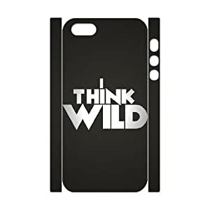 3D Case For IPhone 5,5S, I Think Wild Case For IPhone 5,5S, Kweet White