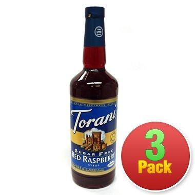 Torani 3 Pack Sugar Free Red Raspberry