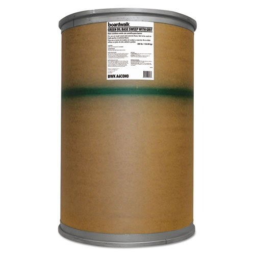 Boardwalk BWKA6COHO Oil-based Sweeping Compound, Grit, Green, 300lbs, Drum by Boardwalk