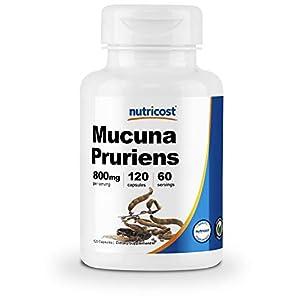 Gut Health Shop 41ftLsPk0dL._SS300_ Nutricost Mucuna Pruriens 400mg, 120 Capsules - 800mg Per Serving, Veggie Caps, From Mucuna Pruriens Seed