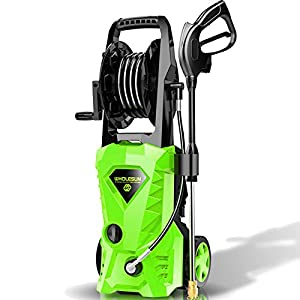 WHOLESUN 3000PSI Electric Pressure Washer 2.4GPM Power Washer 1600W High Pressure Cleaner Machine with 4 Nozzles Foam…