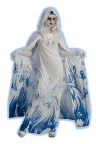[Forum Novelties Women's Ghostly Soul Seeker Costume, White, Standard] (Haunted Ghost Costume)