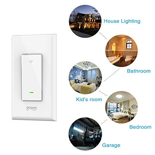 Smart Light Switch Gosund in-Wall Wifi Smart Switch Works with Amazon Alexa Google Home and IFTTT, [Timer/Countdown/Scene] Remote Control, Single-Pole, No Hub Required, Easy Installation (4 pack) by TanTan (Image #1)