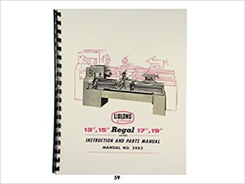 leblond regal lathes instruction parts leblond regal 13 15 17 19 lathes instruction parts manual leblond com books