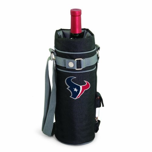 (NFL Houston Texans Insulated Single Bottle Wine Sack with)