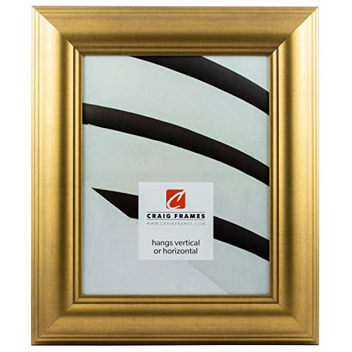 - Craig Frames 88066 5 by 7-Inch Picture Frame, Smooth Wrap Finish, 2-Inch Wide, Antique Gold