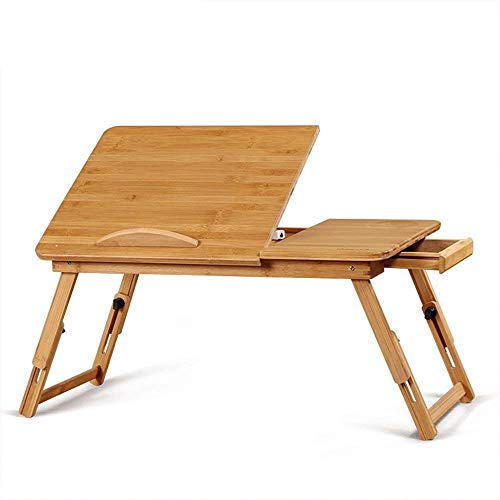 MKKM Lazy Table-Folding Table Portable, Laptop Table, Study Table Desk, Height Adjustable, with Drawers,5030Cm, 5534Cm Save Space,5030cm by MKKM