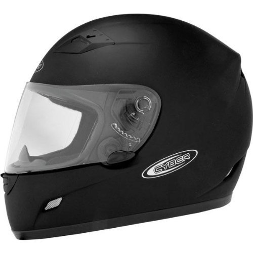 Cyber Helmets US-39 Solid Helmet , Size: Sm, Primary Color: Black, Helmet Type: Full-face Helmets, Helmet Category: Street, Distinct Name: Flat Black, Gender: Mens/Unisex 640721