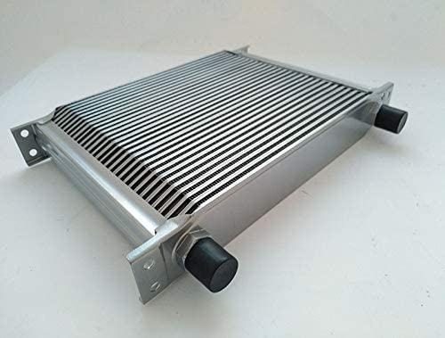 NEW 30 ROW AN-10AN UNIVERSAL ENGINE TRANSMISSION OIL COOLER SILVER UNIVERSAL