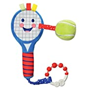 Kids Preferred Little Sport Star On the Go Plush Developmental Tennis Racket, 13.75