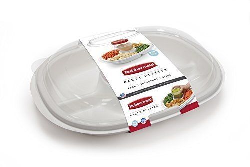 Rubbermaid - Party Platter, (Clear) (2-Pack) SYNCHKG105700