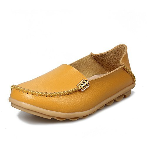 Scarpe Stringate Casual In Pelle Moda Yixinan Per Donna Yellow2