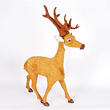 damjic large christmas reindeer plush christmas christmas deer deer iron lula car christmas decorations a - Christmas Reindeer Decorations
