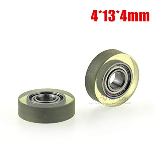 (Zamtac 1pcs 4134mm Germany Imported PU, Super Mute, Flat Wheel, Rubber sheave, Bearing Roller for Cash Box/Showcase/Counting Machine)