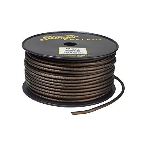 Stinger SSVLP8BK 8Ga Matte Black Power Wire 250' by Stinger