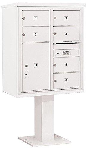 Salsbury Industries 3410d-06wht 4 C Pedestalメールボックス、ホワイト   B00CLVHS38